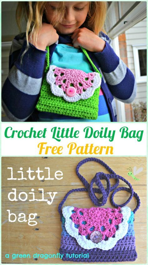 Crochet Little Doily Bag Free Pattern - Crochet Kids Bags Free Patterns