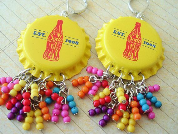 Boho Earrings Pop Art Bohemian Jewelry Colorful by BohoStyleMe, $28.00