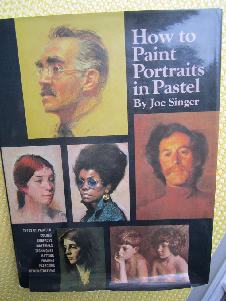 How to Paint Portraits in Pastel ~ 1970s book, by pastel painter, Joe Singer ~ 4th Printing, 1976 ~ Very good condition with Dust Jacket by TwinAntiques on Etsy