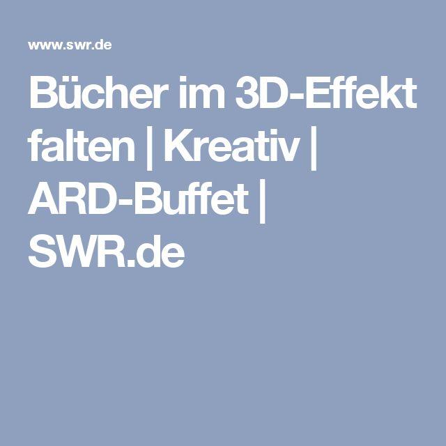 Bücher im 3D-Effekt falten | Kreativ | ARD-Buffet | SWR.de