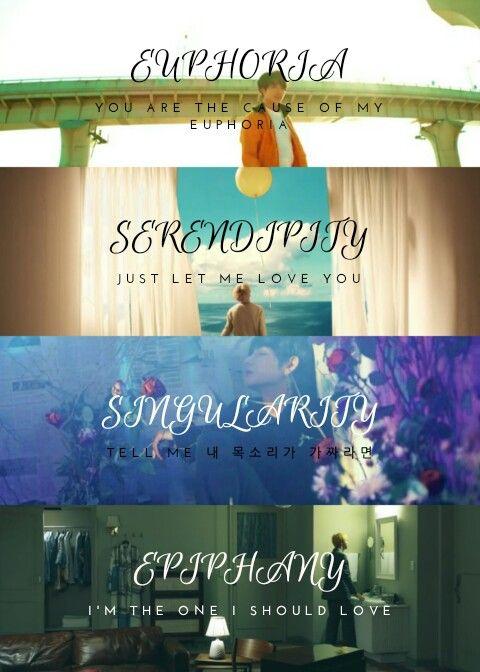 Love Yourself #BTS #Serendipity #Singularity #Euphoria #Epiphany