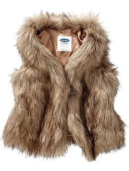 Faux-Fur Vests for Baby  | Old Navy | Toddler sizing Perfect for fall and winter sessions