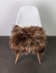 Surrealz genuine Sheepskin icelandic long wool  seat pad chair cover rug honey brown brisa