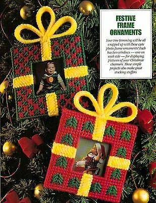 Deck the Halls in Plastic Canvas Book 3, Festive Frame Ornaments