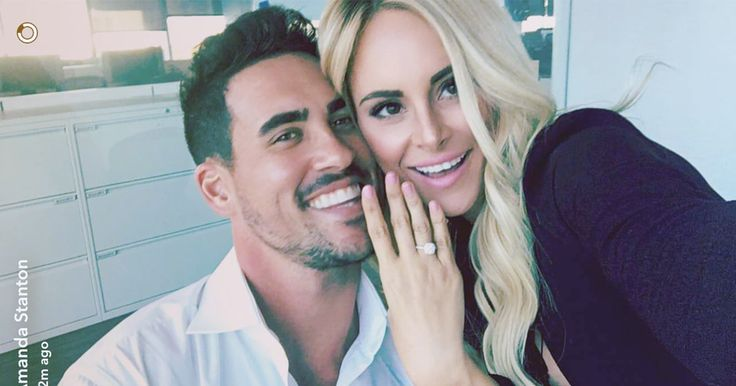 Amanda Stanton showed off her engagement ring from Josh Murray on Snapchat…