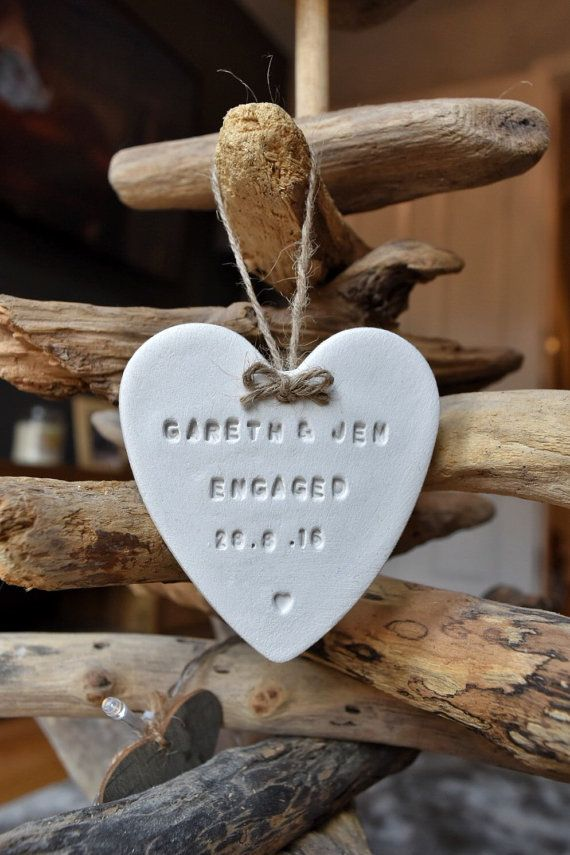 Clay Heart Ornament by White Heart Gift Co. on Etsy