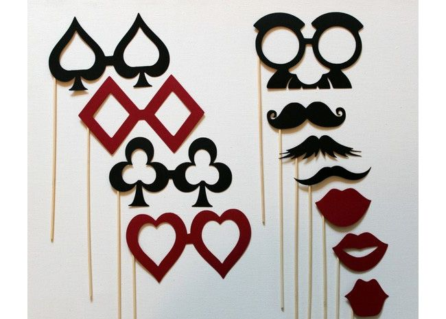 Photo booth props | casino party idea | DIY | do it yourself photo booth prop