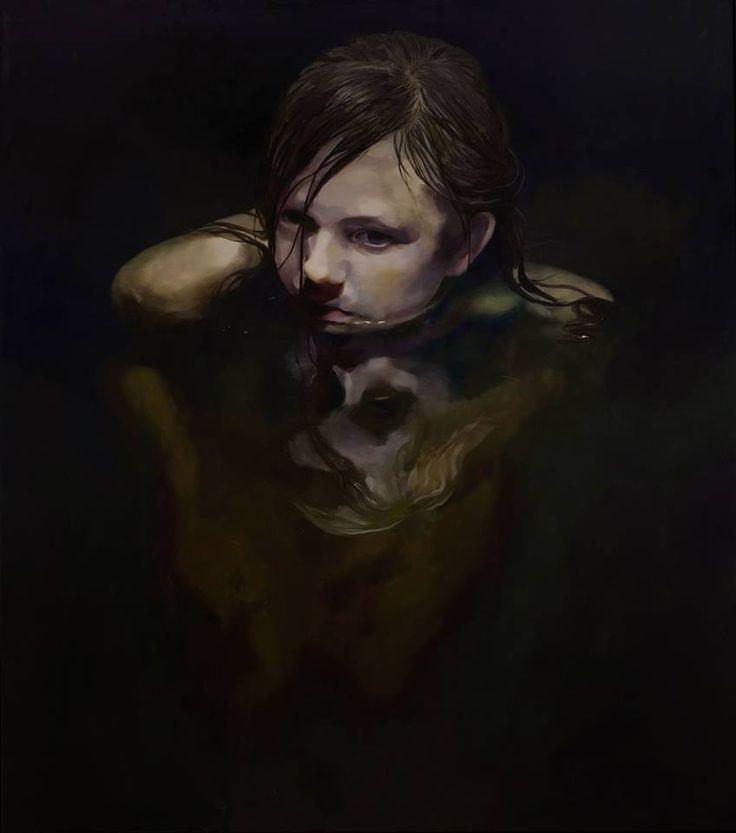 Black Pond, Oil on canvas, 170x150cm, 2013 / Markus Akesson / Markus Åkesson