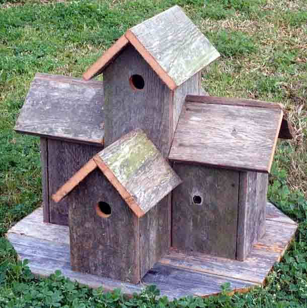 Rustic Birdhouses Patterns | Our Assortment Of Rustic Barnwood Items - Click On Any Picture For ...