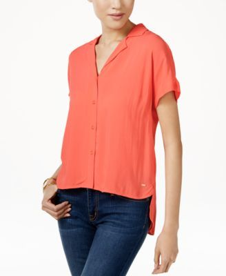 Tommy Hilfiger Dobby High-Low Shirt