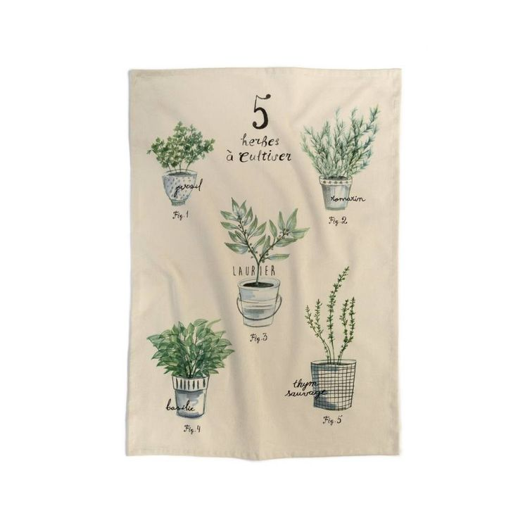 Linge à vaisselle « Fines herbes » 9.99 $