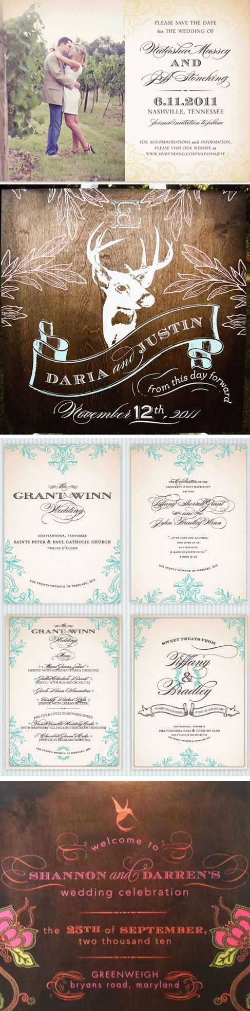 deer hunter wedding invitations%0A love the invitation on the top  the pic and the font  makes me smile