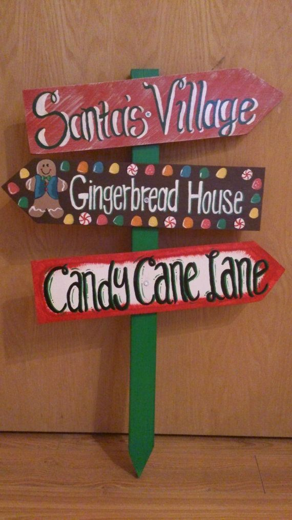 Christmas Yard Sign by SweetiePieSigns on Etsy, $35.00
