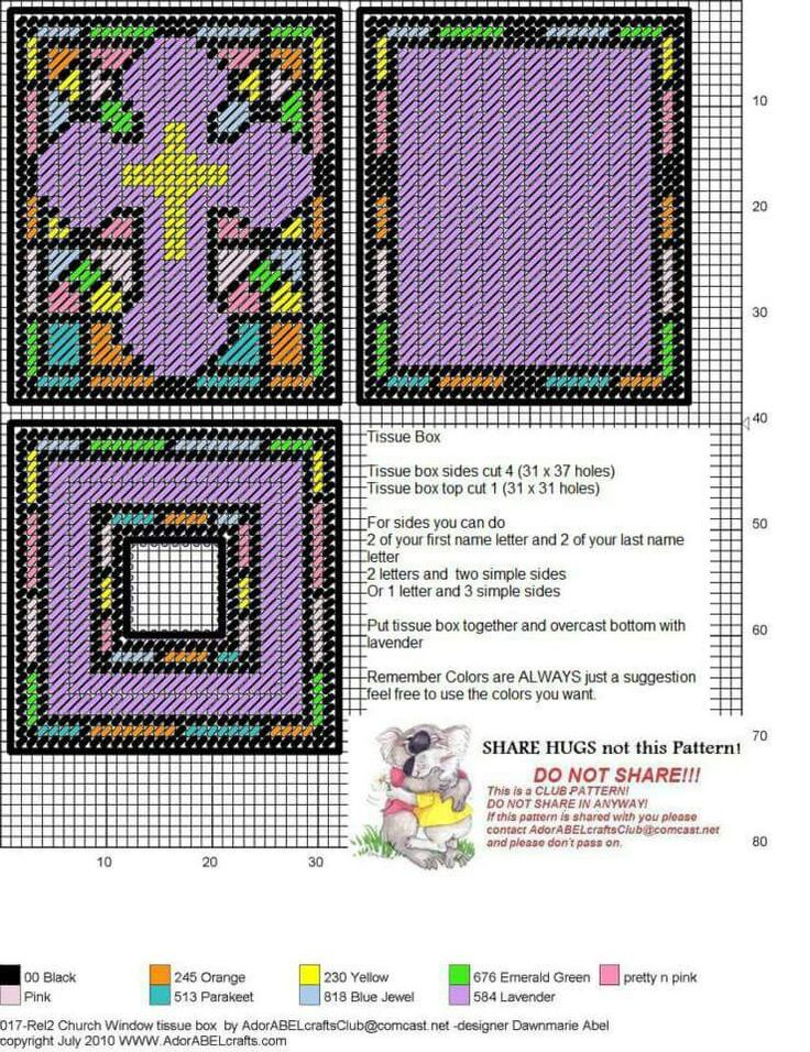 CHURCH WINDOW TISSUE BOX COVER by DAWNMARIE ABEL  sc 1 st  Pinterest & 1229 best Plastic canvas tissue box covers images on Pinterest ... Aboutintivar.Com