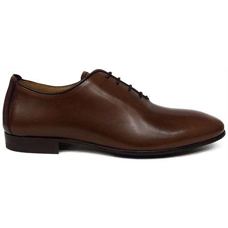 8490 zapato oxford enterizo o wholecut con el canto arrimado en color cuero de Paco Milan   Calzados Garrido