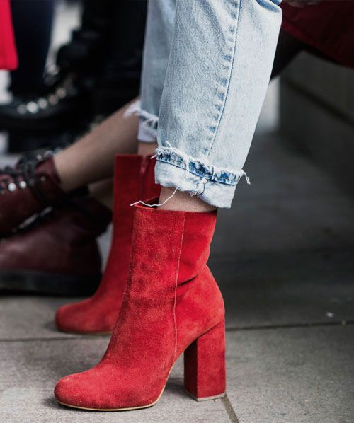 LOVIKA | How to wear red boots outfit ideas #OOTD #booties #street #style