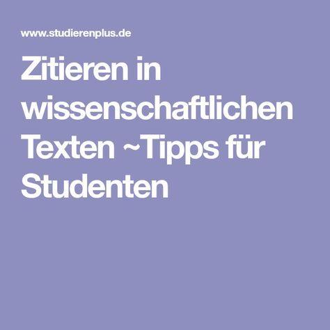 Zitieren in wissenschaftlichen Texten ~Tipps für Studenten