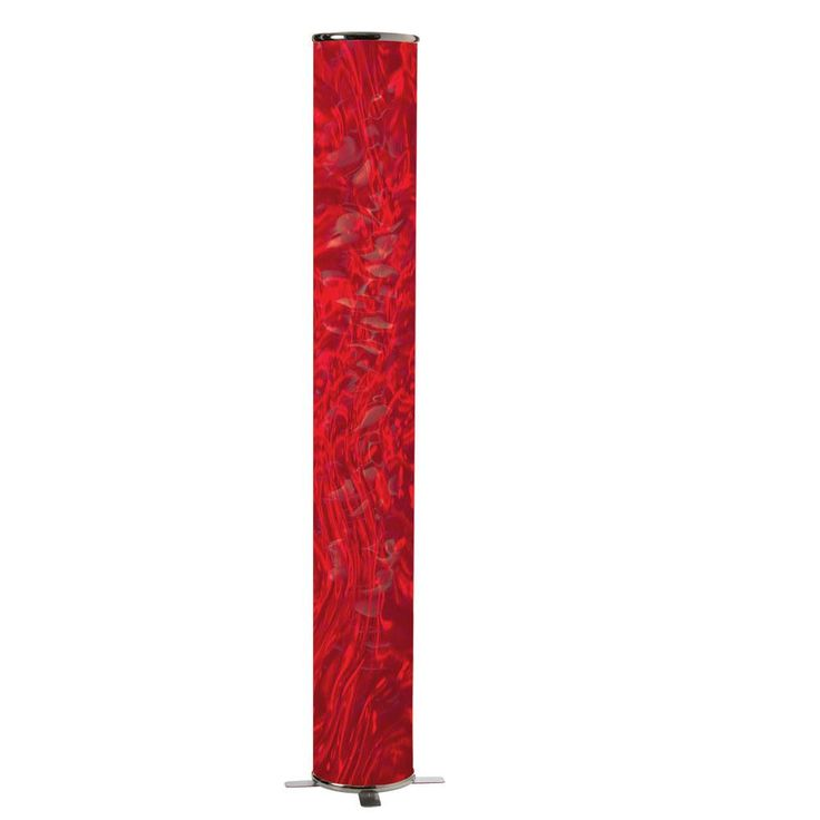 Decorative Floor Lamp with Red Ice Shd : 2FWUD | SIGNATURE LIGHTING AND FANS