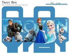 Frozen: Free printable Boxes.
