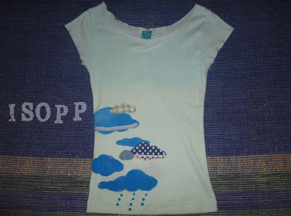 雲をモチーフに、手描きとアップリケやスパンコール、レースをあしらいました。*Tシャツの地色 アイスグリーン*素材 cotton100%*サイズ レディースM ...|ハンドメイド、手作り、手仕事品の通販・販売・購入ならCreema。