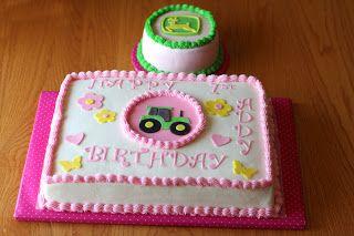 The Gano's: Happy 1st Birthday! John Deere Girl Sheet Cake and...
