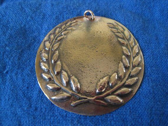 SCA Laurel Medallion  Copper Pressblech by IldanachAfterDark, $25.00