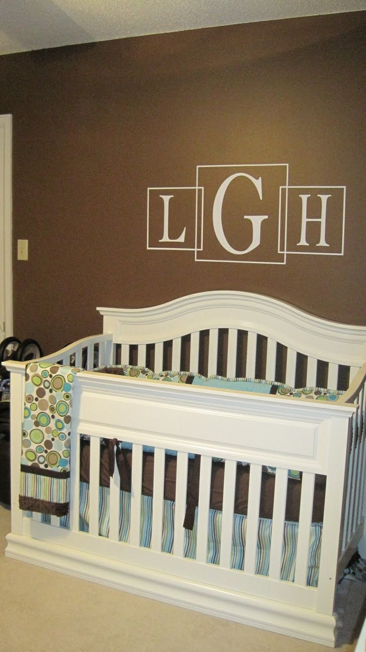 initials above crib Tags - Project Nursery