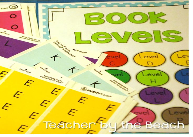 "FREE book leveling labels that print on Avery sticker labels, organize your classroom library and help students pick ""just right"" books"