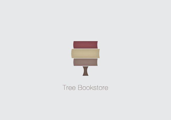 Tree Bookstore logo by Sanja Veljanoska, via Behance