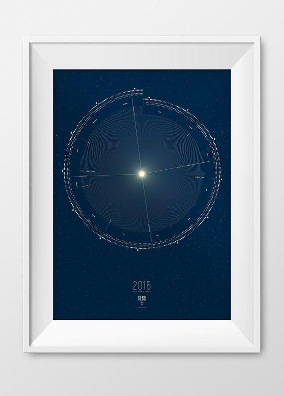 Calendario Lunar 2015 por FlouFlouShop en Etsy
