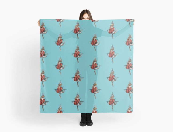 Love and Sea (anchor with heart and compass) by #Beatrizxe | #Redbubble #scarf #fashion Illustration of a heart pierced by an anchor and surrounded by a rope. The background is a compass or windrose. It has a maritime theme, due to It shows a love for the sea and everything it contains.#ocean #sea #tattoo #navy #ship #sailor #nautical #anchor #beach #sailing #boat #oldschool #waves #tide #heart #love #rope #compass #windrose #ink #travel #journey #voyage #illustration #draw #drawing #art