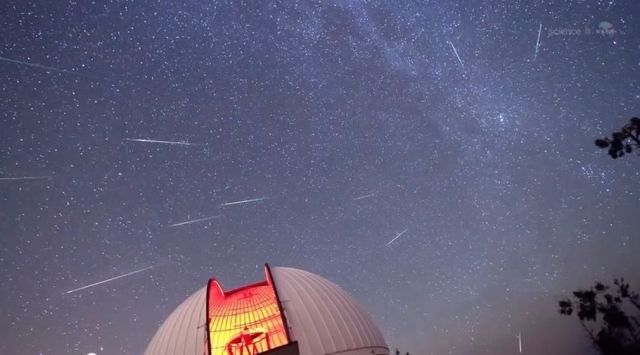 Perseid annual meteor shower