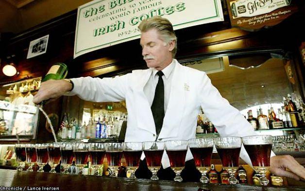 Credited with introducing Irish coffee to the United States in 1952.