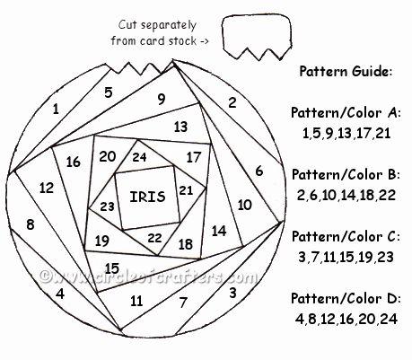 christmas ornament iris folding pattern