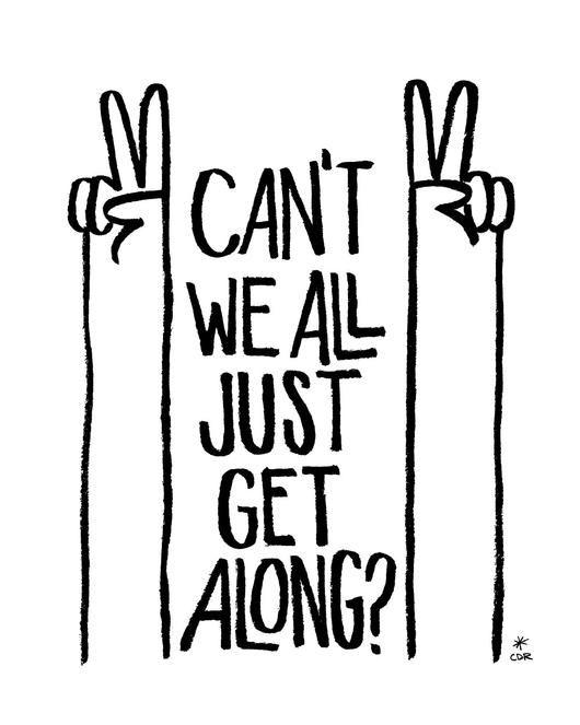Get Along Print - - Print - Christopher David Ryan - CDR