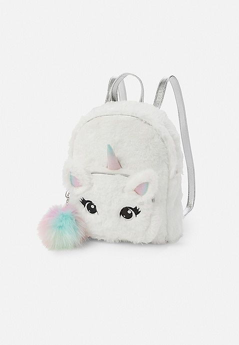 9c6c708f68 ... bags at Justice. Unicorn Faux Fur Mini Backpack