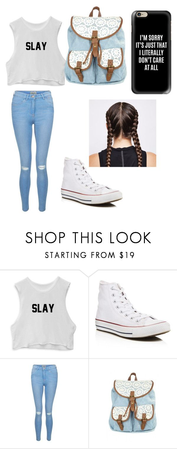 """""""School"""" by devin-scarver ❤ liked on Polyvore featuring Converse, New Look, Casetify and Ultimate"""