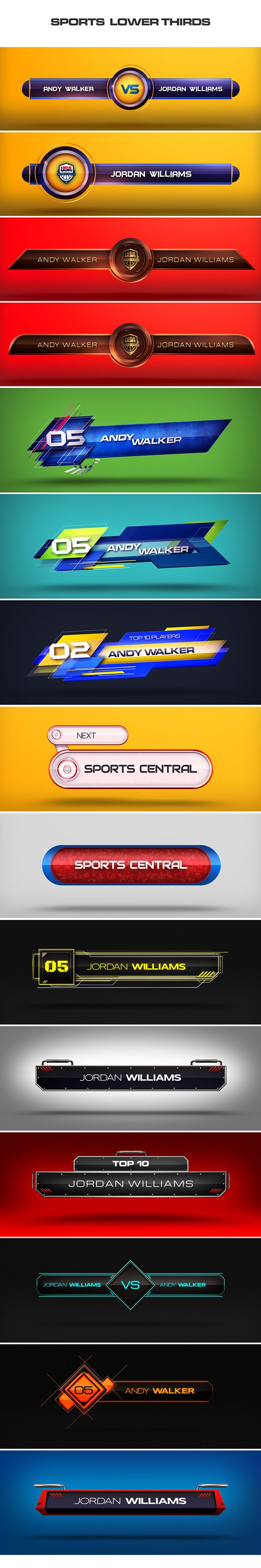 Collective set of Clean Lower Thirds