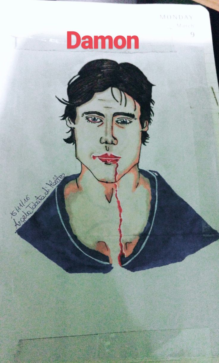 working on my fav vampire: Damon Salvatore #illustration #fanart #pantone #tvd #damonsalvatore #iansomerhalder