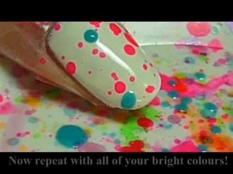 Masterclass: Funkify your nails with splattered paint - dropdeadgorgeousdaily.com