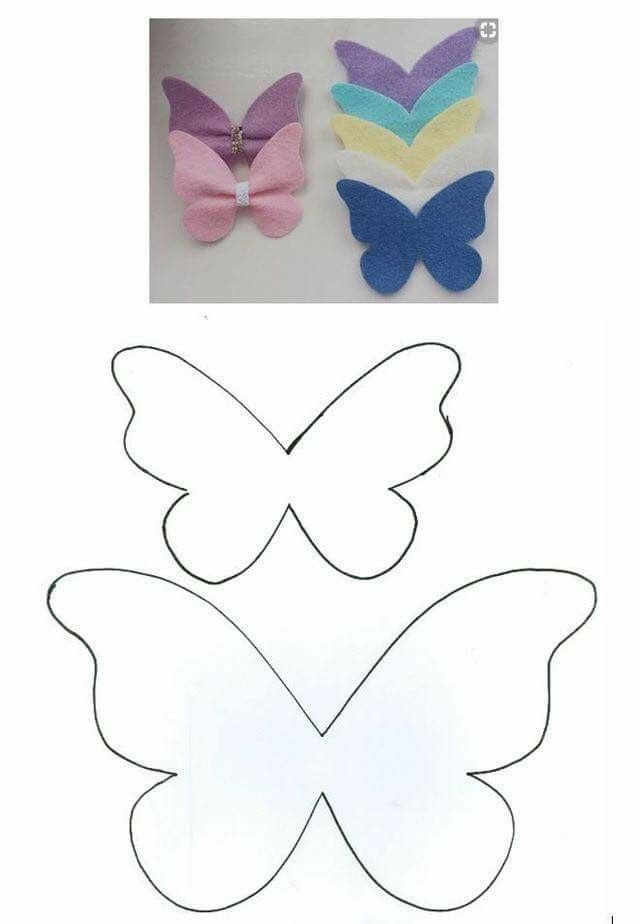 Butterfly Bow Diy Hair Bows Butterfly Template Diy Bow