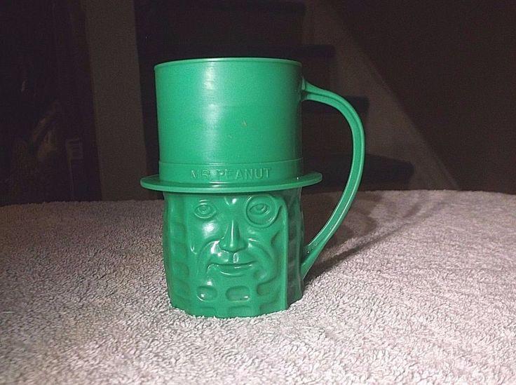 Vintage Planters Mr Peanut Plastic Mug #Planters