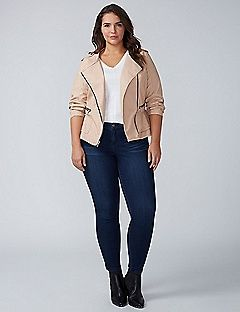 Faux Leather Peplum Moto Jacket | Lane Bryant VALENTINES DAAAYYYY