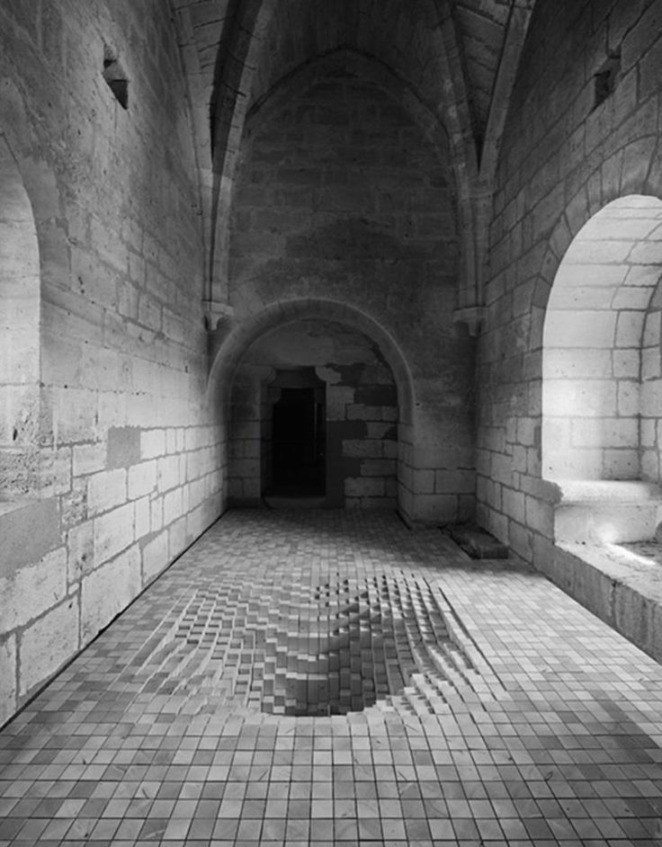 Архитектурная Арт-инсталляция странное искусство Byme архитектуры Фанни Буше Эммануэль Мессье Debarrassons Ле публике
