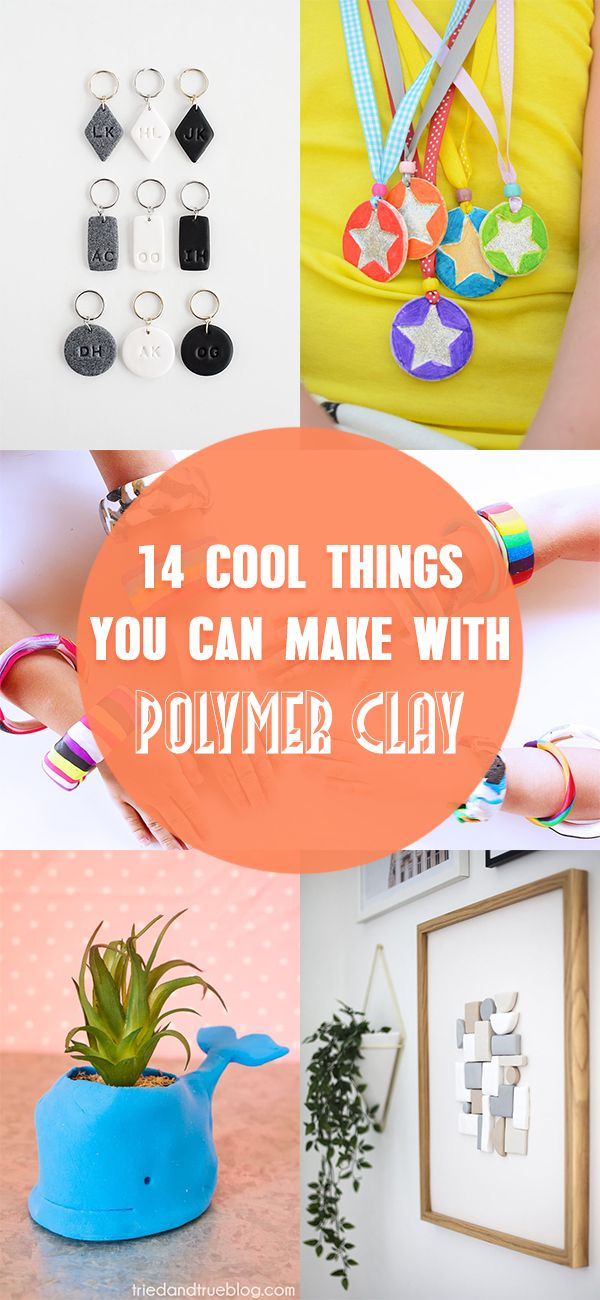 14 Cool Things You Can Make With Polymer Clay Diy Craft Projects