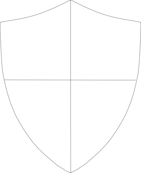 blank shield template printable - shield template blank knight party pinterest clip