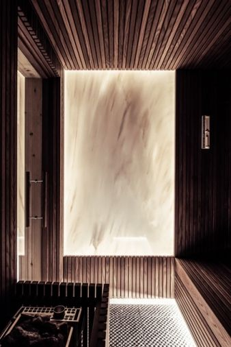 Another important room in a mountain home, the sauna proves invaluable winter