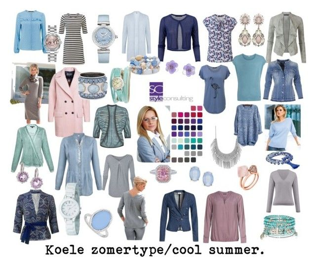 """Koele zomertype/ Cool summer color type. Seasonal color analysis."" by roorda on Polyvore featuring mode, LoveBrightJewelry, Hahn, OMEGA, Cara, Chico's, Lucky Brand, Michael Kors, Chanel en Accessorize"