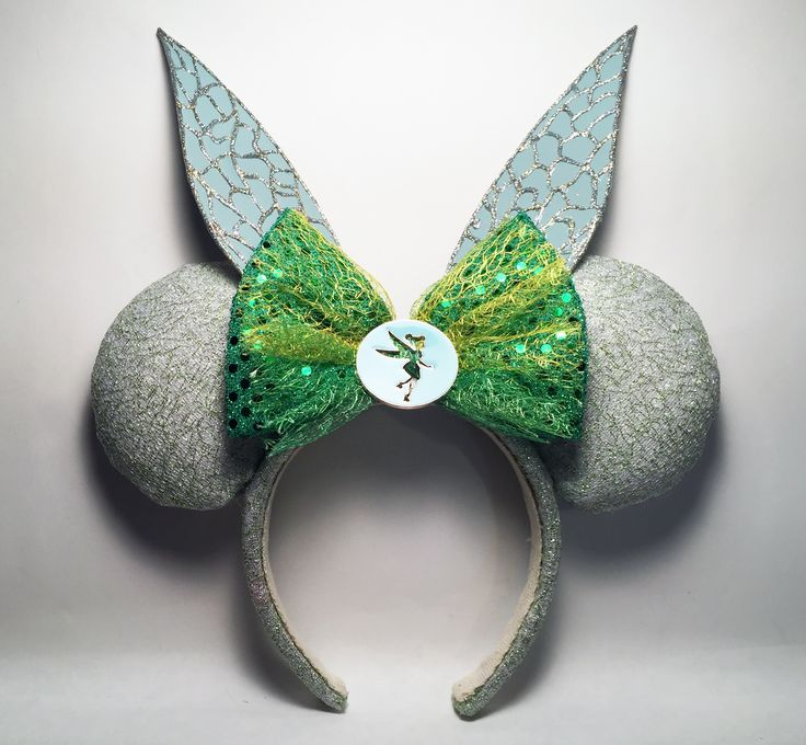 Tinker Bell Inspired Mickey Ears. I made these for my grand niece. I copied the wings only from an idea here on Pinterest. My DIY Mickey Ears by NMazzie * I have a similar pair of these for sale in my Etsy Store www.etsy.com/shop/MouseEarsbyMazzie