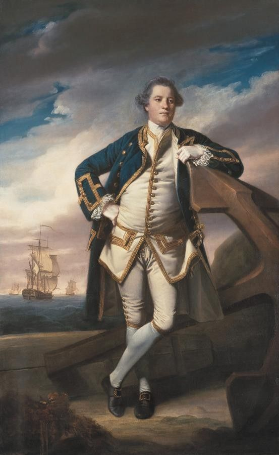Captain Philemon Pownoll, Officer of the Royal Navy by Sir Joshua Reynolds 1770